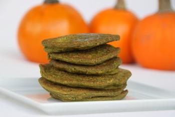 Green Pumpkin Oat Pancakes