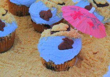 Beach Bunny Cupcakes