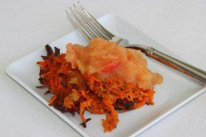 Baked Sweet Potato Latkes (Vegan and Gluten Free)