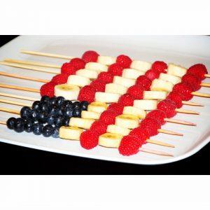 American Flag Fruit Skewers (Raw, Vegan, Gluten Free)