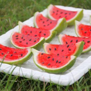 Mini Watermelon Slices (Vegan & Gluten Free)
