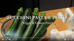 Zucchini Pasta with Pesto Cooking Video