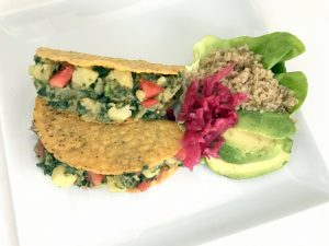 Spinach Potato Tacos (vegan & gluten free)